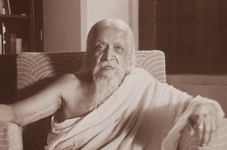 Sri Aurobindo in his room